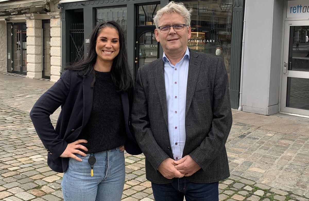 Linn Magnussen Lillefosse og Ketil Olsen. Foto: Eterni