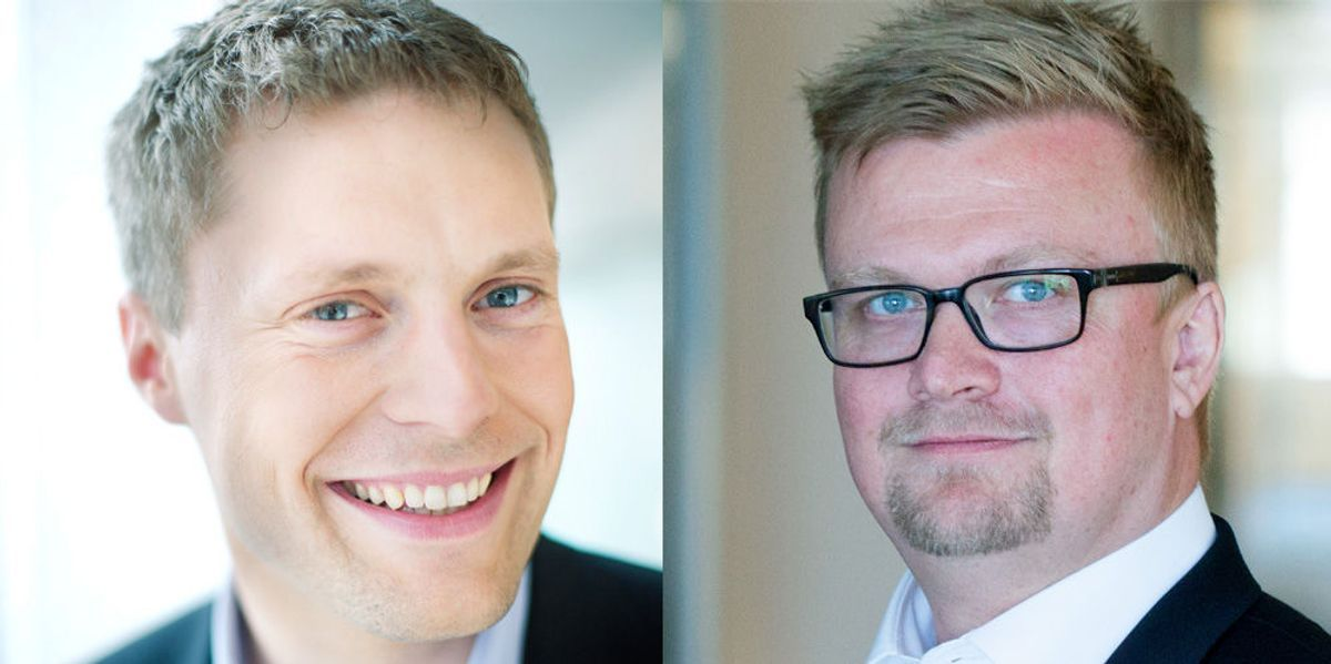 Jan Ove Fredlund og Hans Martin Asheim. Foto: KPMG Law Advokatfirma
