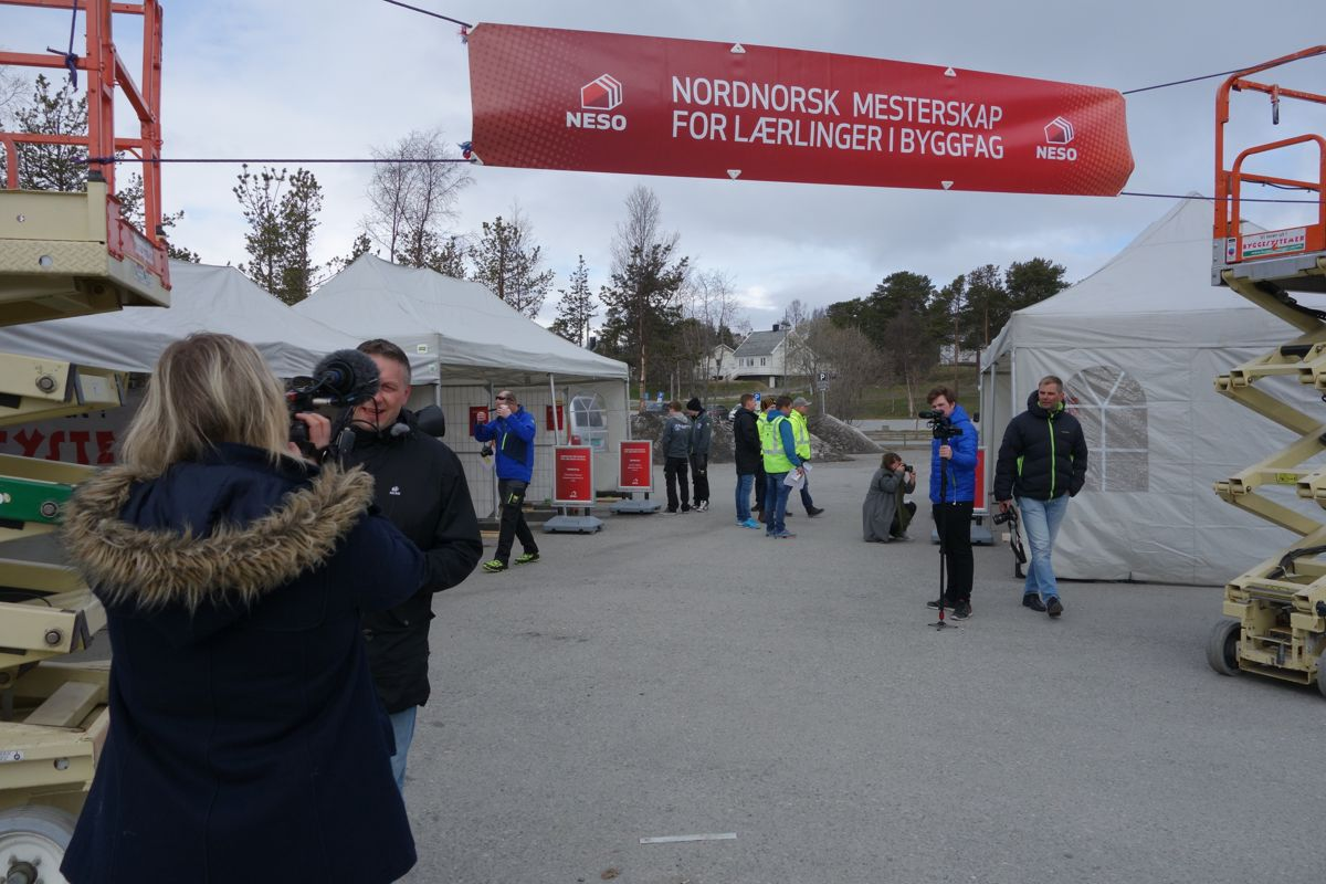 For 11. gang arrangerer NESO NordNorsk Mesterskap (NNM) for lærlinger i byggfag. FOTO: NESO