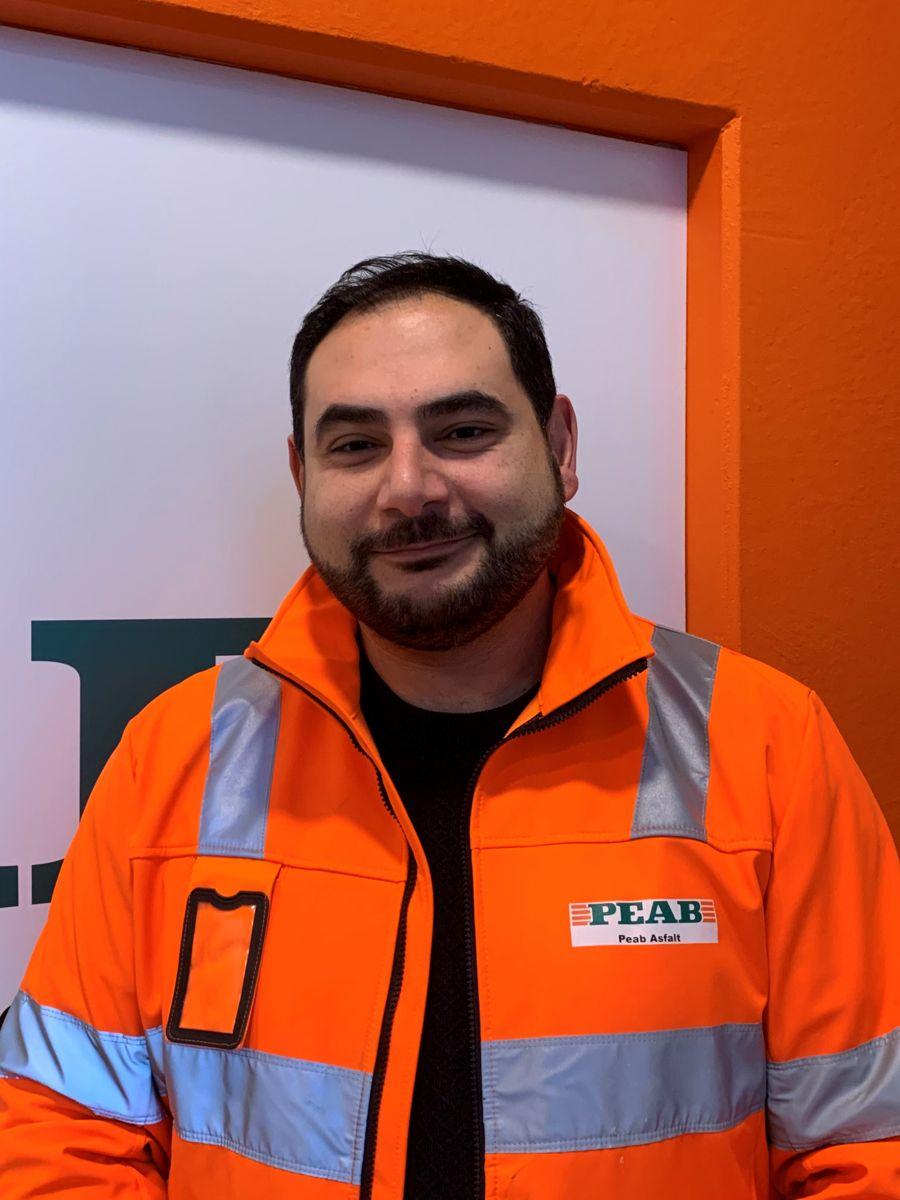 Behzad Armingohar, regionsjef midt og vest i Peab Asfalt.