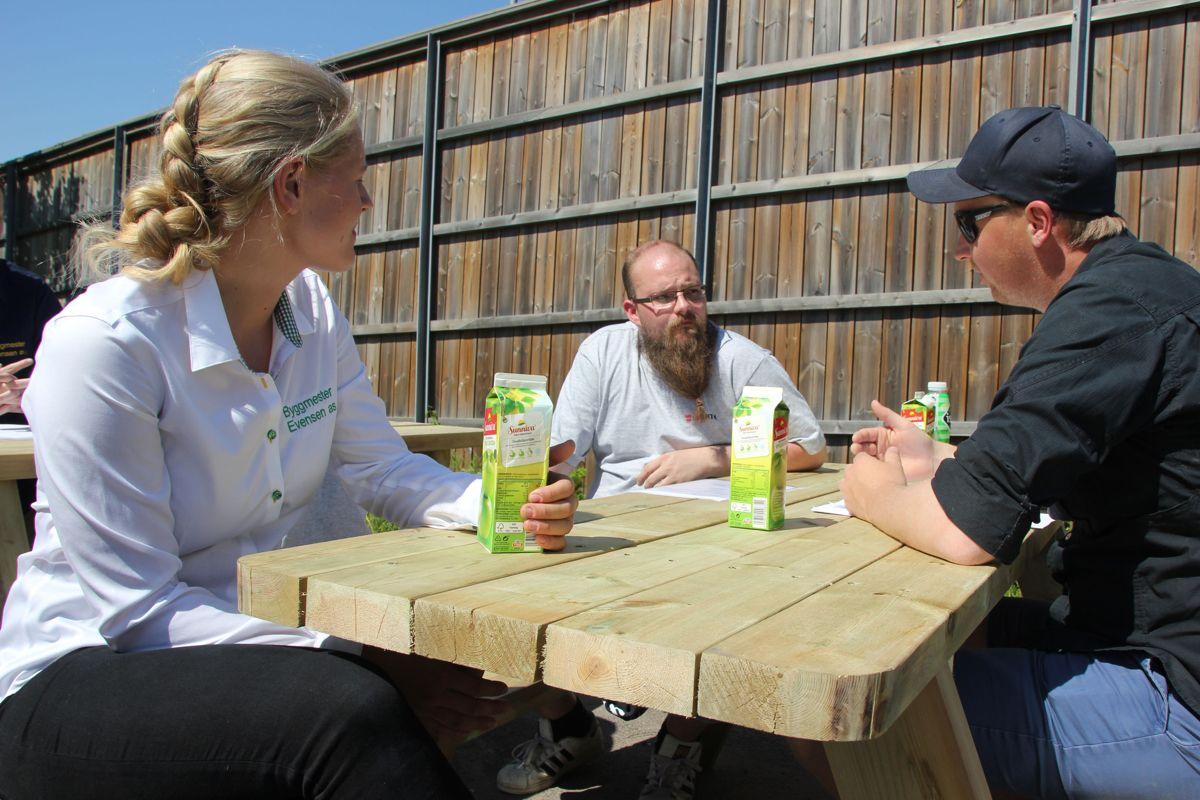 Byggmester Evensen deltok på Rekrutteringsdager på Kuben yrkesarena. Foto: Svanhild Blakstad
