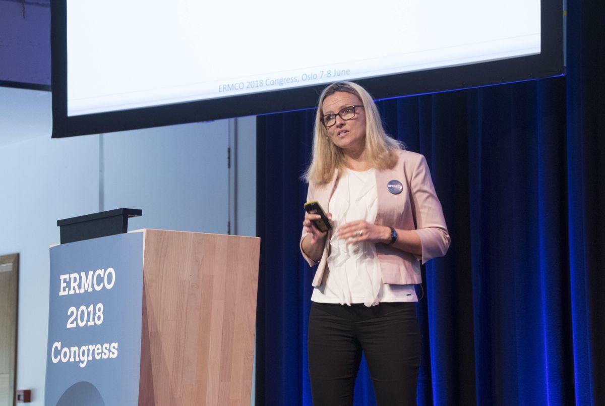 Kjersti KvalheimDunham, prosjektleder for Ferjefri E39. Foto: Tuva Skare