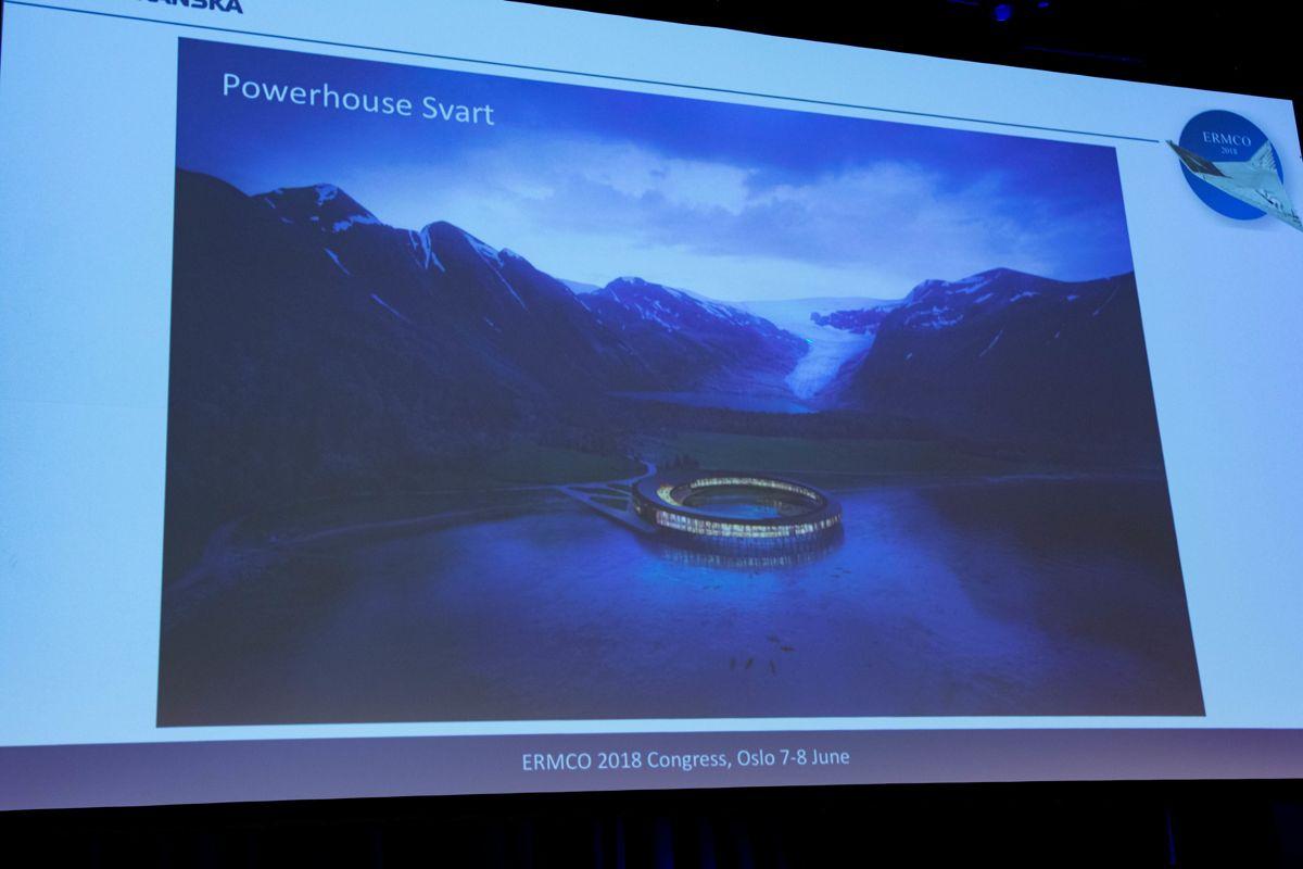 Powerhouse Alliance. Svart, verdens første energipositive hotell bygges over Polarsirkelen. Foto: Tuva Skare