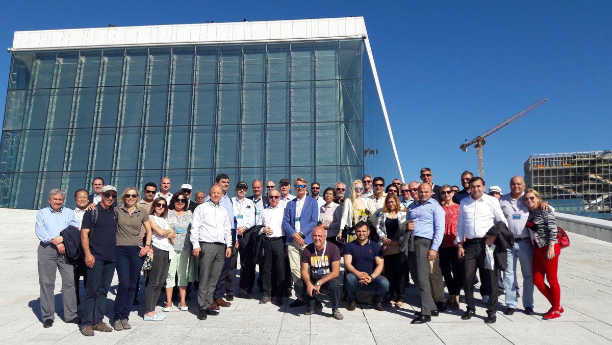 Fredag ettermiddag ble ERMCO 2018 avsluttet med en ekskursjon til flere av de pågående byggeprosjektene i Bjørvika.