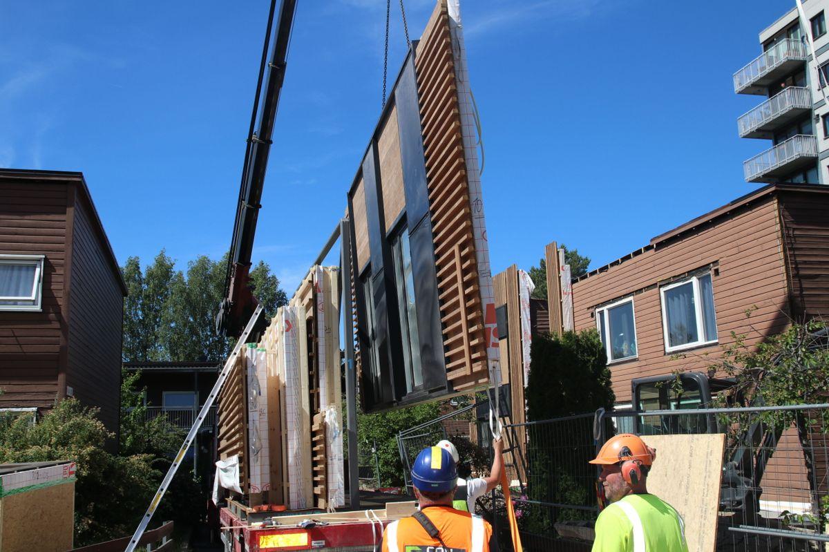 De største fasadeelementene veier 1,5 tonn.
