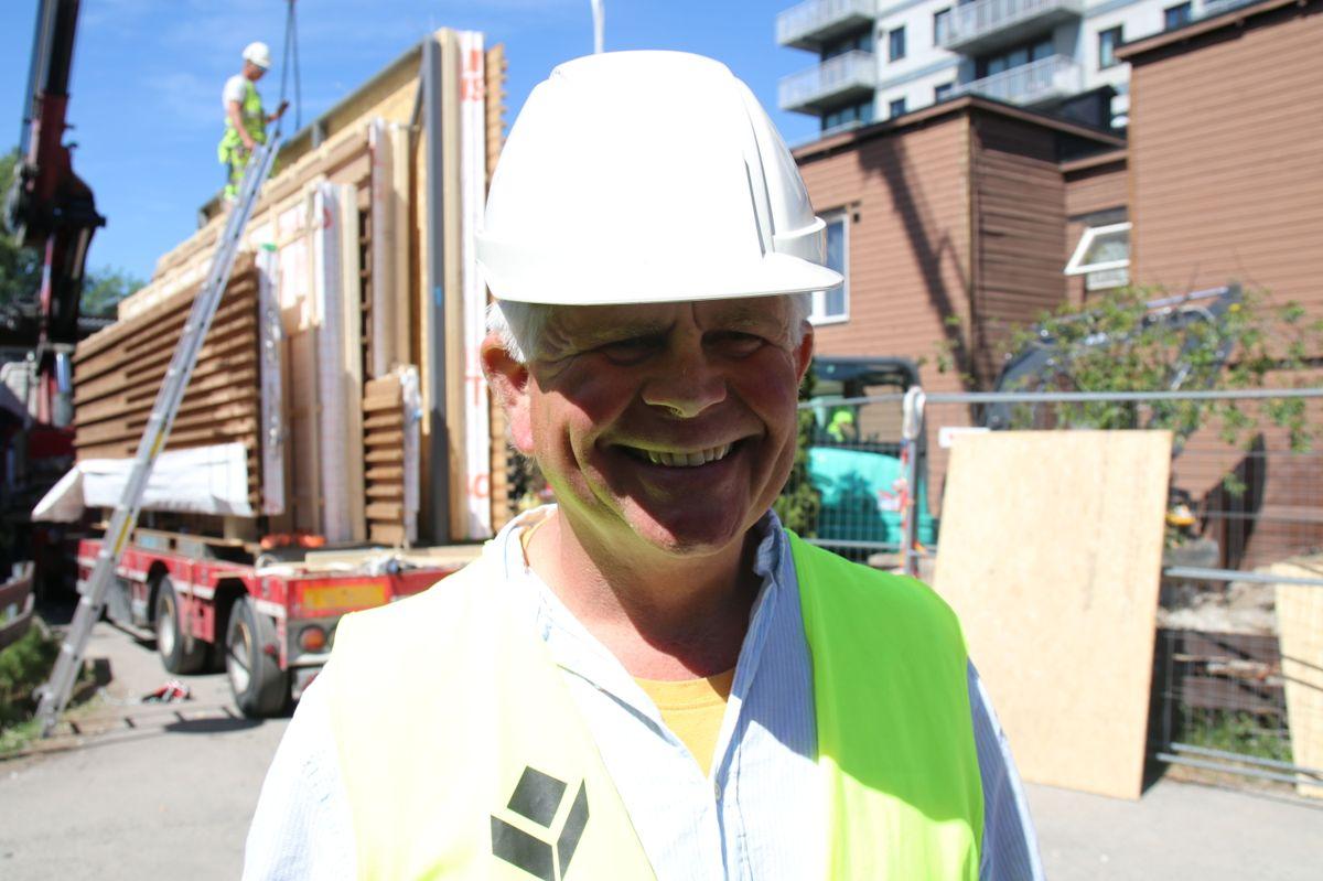 Byggeleder Erik Gulbrandsen i HR Prosjekt.