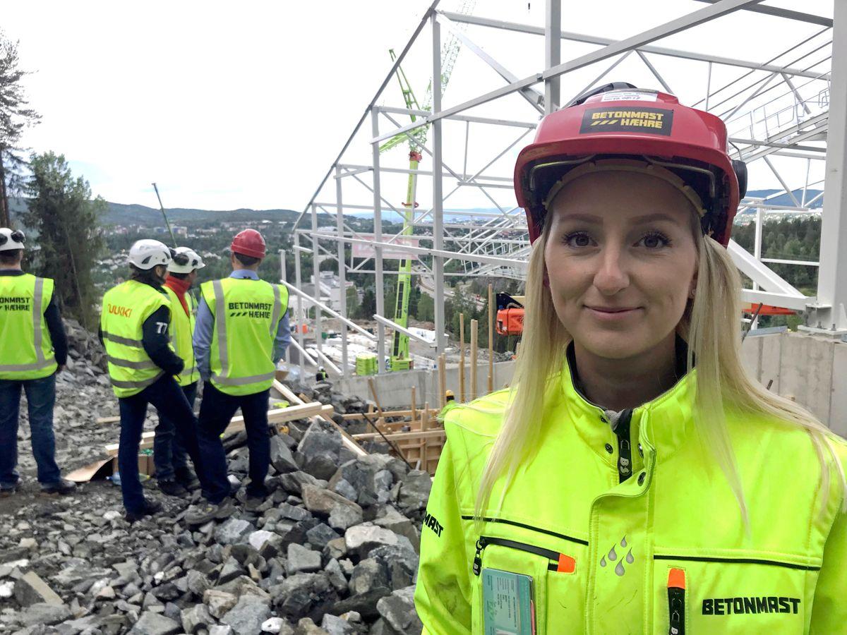 Prosjektingeniør Marie Eng i BetonmastHæhre. Foto: Svanhild Blakstad