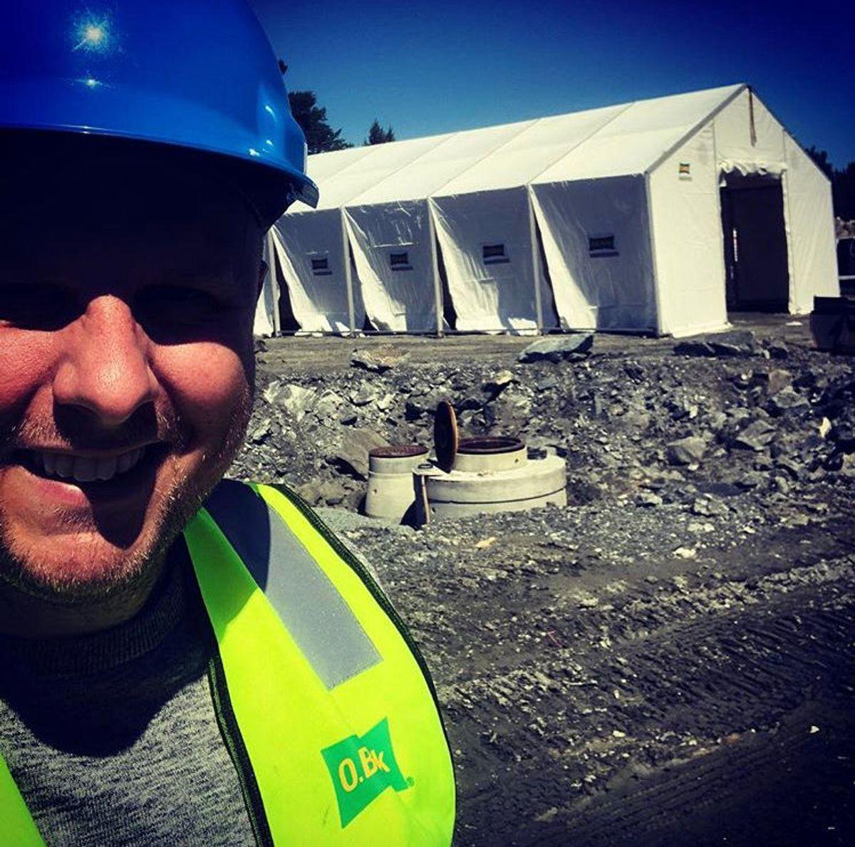 #obwiik #instant #arbeidstelt #wiikhall #norway #bergen #jobbemann #byggeliv Foto: Halvor Bernaas