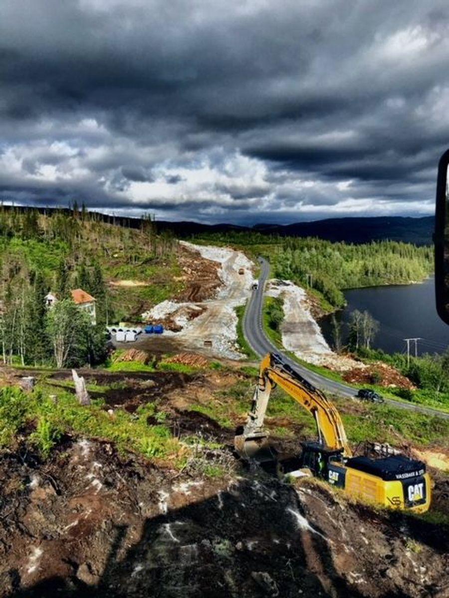 Bygging av nye E6 Helgeland Sør. Foto: Skanska / Vassbakk&Stol