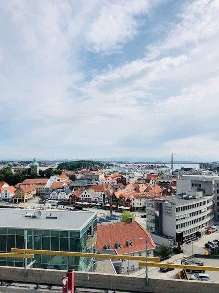Fra taktekkerarbeid med Protan Entreprenør Rogaland i Stavanger. Foto: Susanne Vist