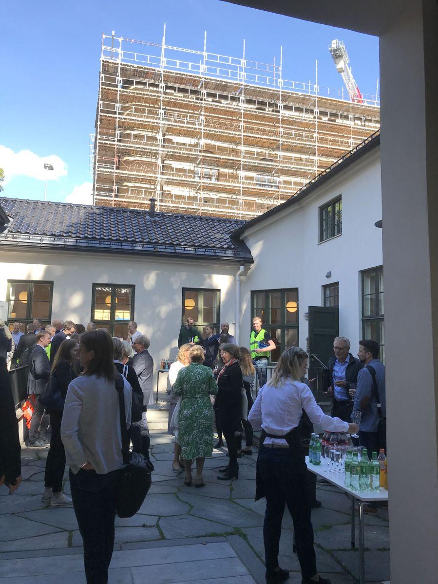 Grunnsteinsnedleggelse for nytt juridisk fakultet ved Universitetet i Oslo - Tullinkvartalet. Foto: Svanhild Blakstad