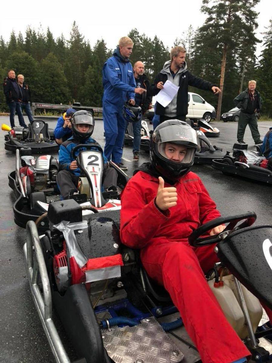 Lærlingene hadde et tettpakket program. Et populært innslag var go kart-konkurransen. Foto: BetonmastHæhre.