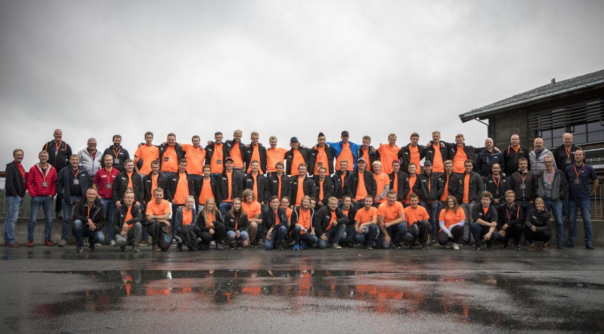Hele 50 nye lærlinger i BetonmastHæhres anleggsdivisjon var samlet på Norefjell denne uka. Foto: BetonmastHæhre.