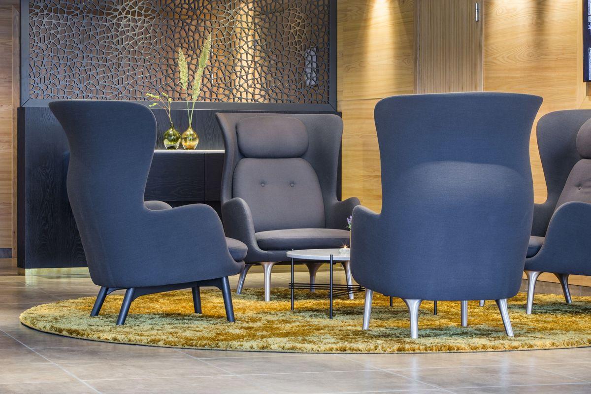 Designelementer hos Radisson Blu Hotel i Tromsø.