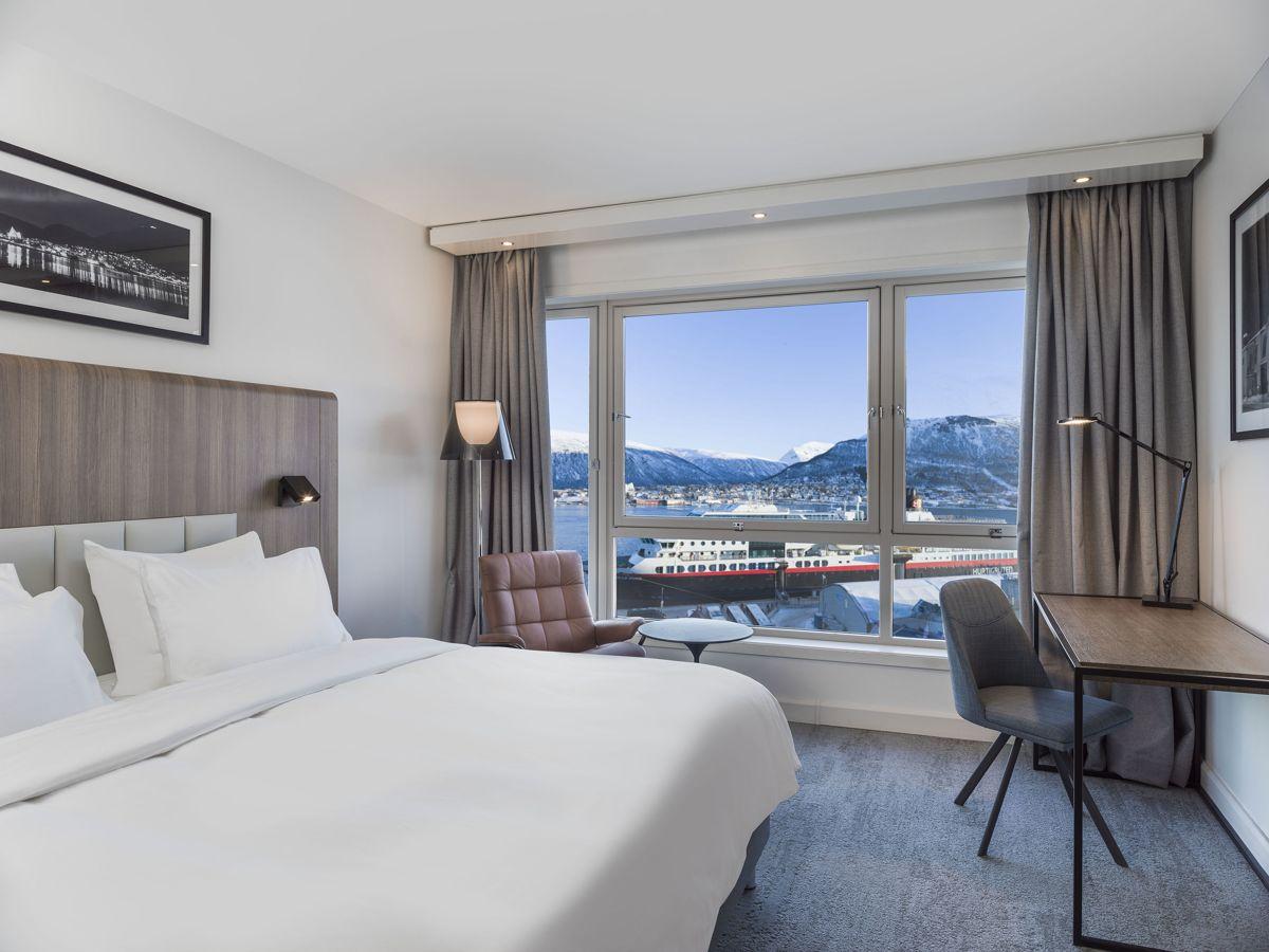Hotellrommene hos Radisson Blu Hotel Tromsø er nyoppusset.