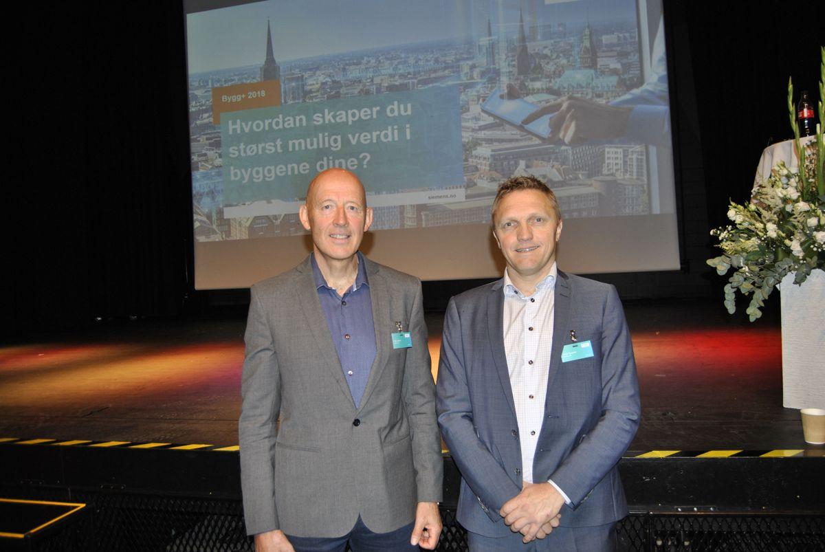 Terje Løkken (t.v.) og Helge Rysjedal fra Siemens ledet seminaret.