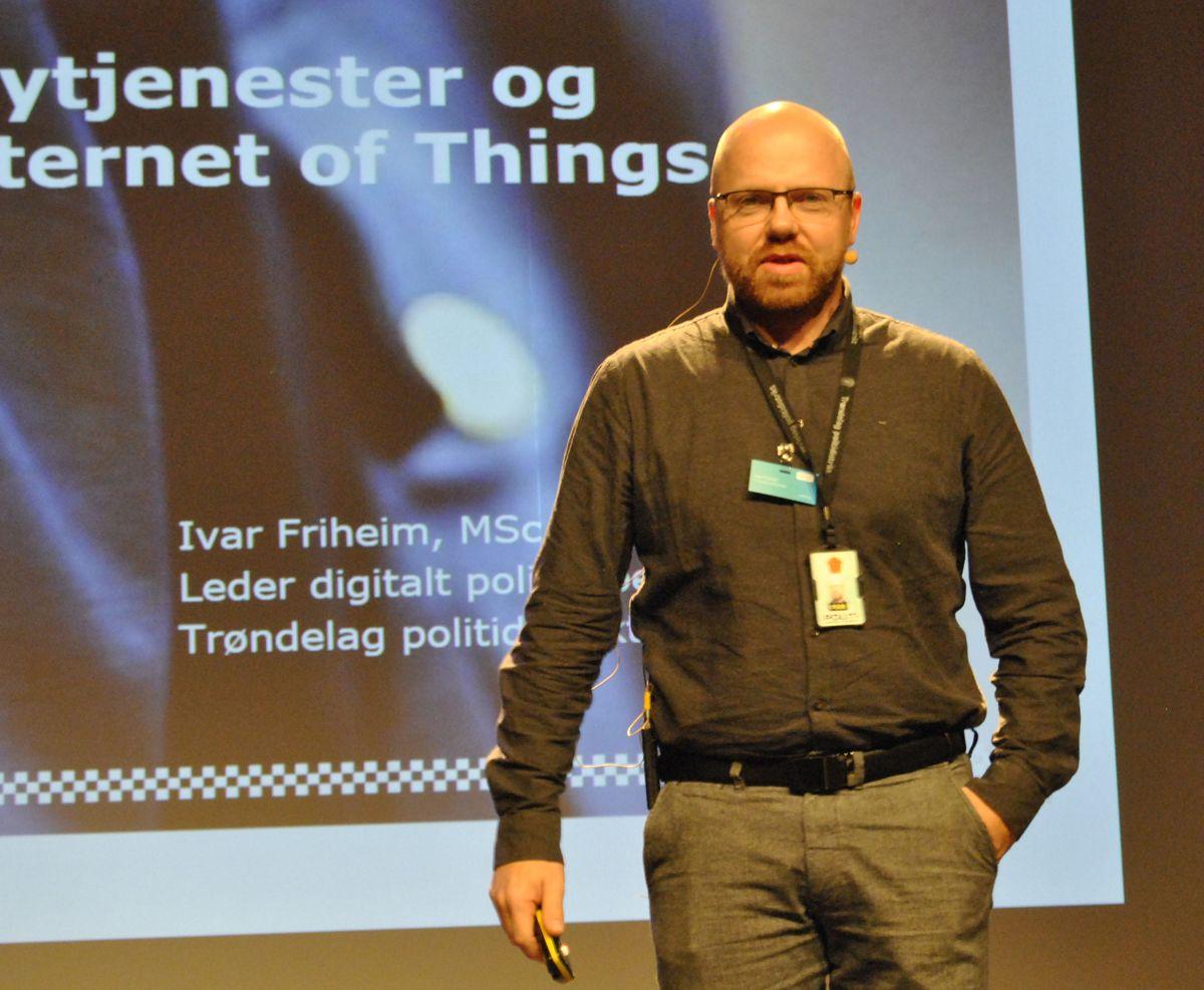 Ivar Friheim fra avsnittet for digitalt politiarbeid hadde mye tankevekkende å komme med omkring datasikkerhet og skyløsninger. Foto: John Inge Vikan