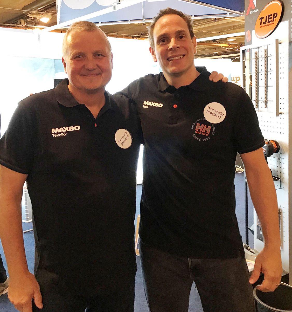 Jarle Bertelsen (t.h.) og Tore Gunnar Andersen.