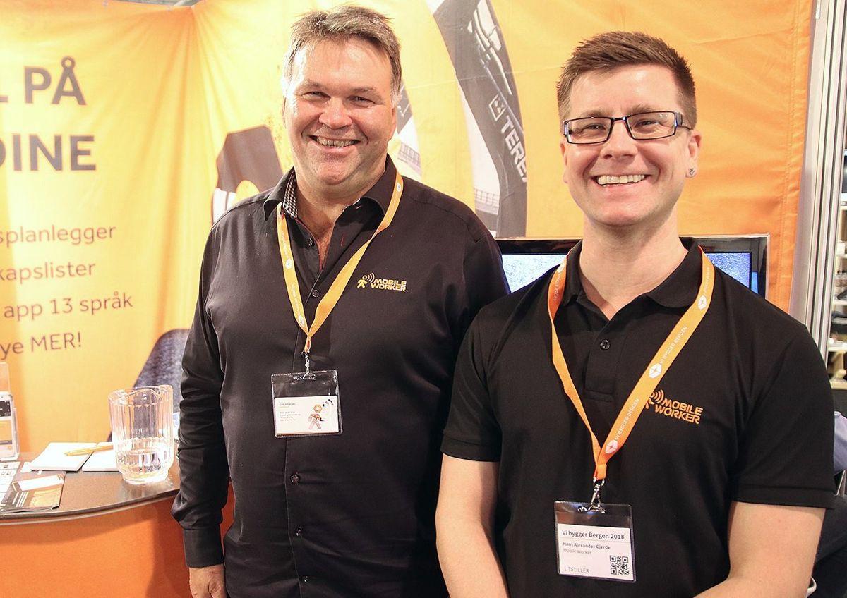 Geir Johansen (t.v.) og Hans Alexander Gjerde i Mobile Worker.