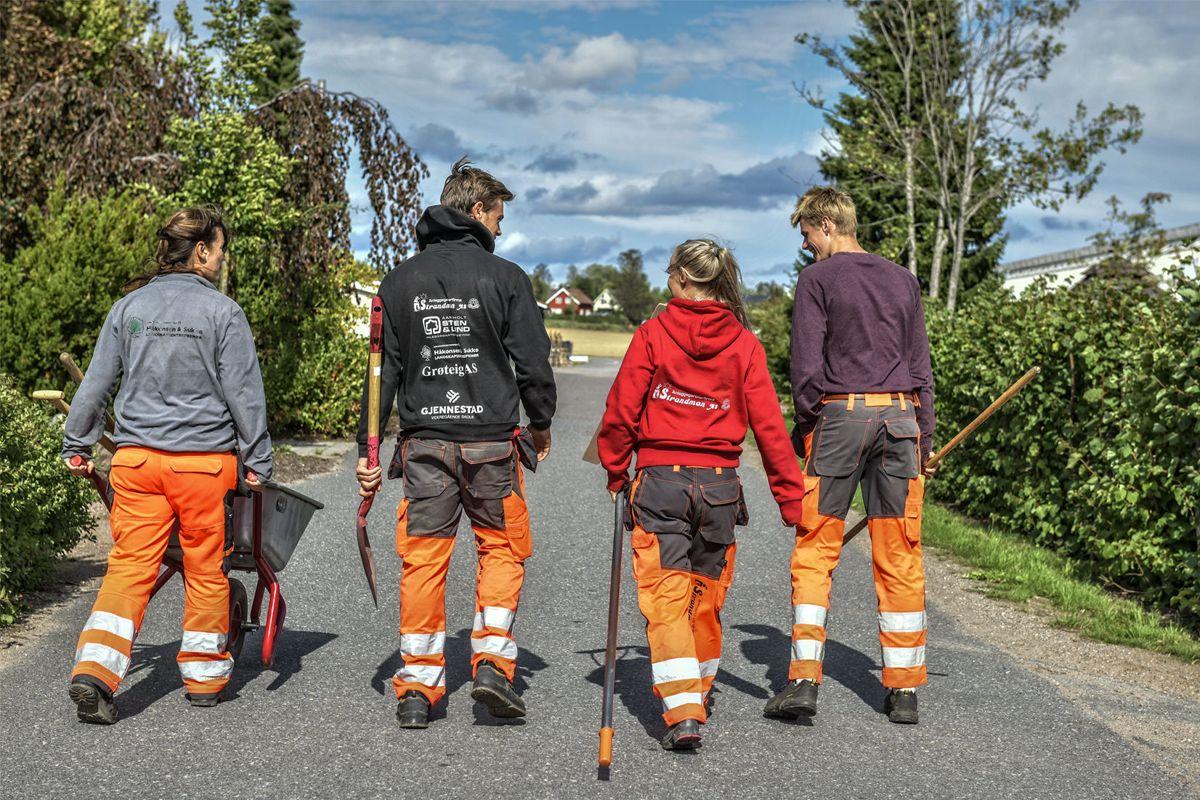 Kampanjen jobbute.no skal vise dagens ungdom hvilke muligheter som ligger i å velge anleggsgartnerfaget. Foto: Jon Erik Andersen/Fogra