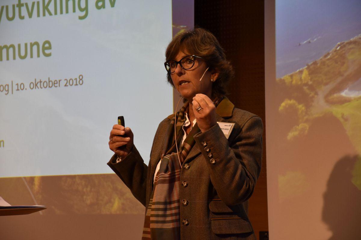 Lisbeth Hammer Krog, ordfører Bærum kommune, holdt innlegg under konferansen.