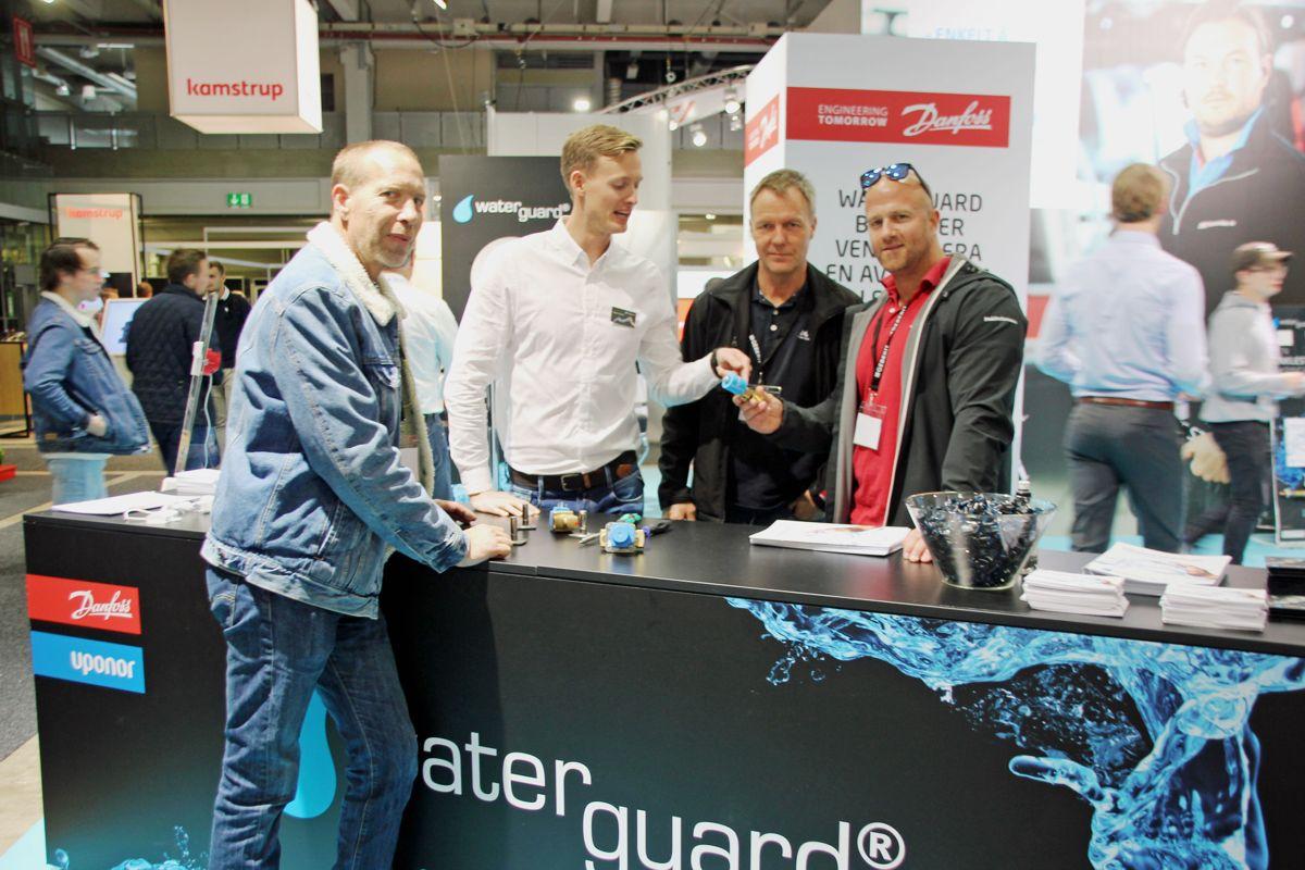 <p>WaterGuard var en av mange utstillere på VVS-dagene 2018 på Lillestrøm. Foto: Svanhild Blakstad</p>