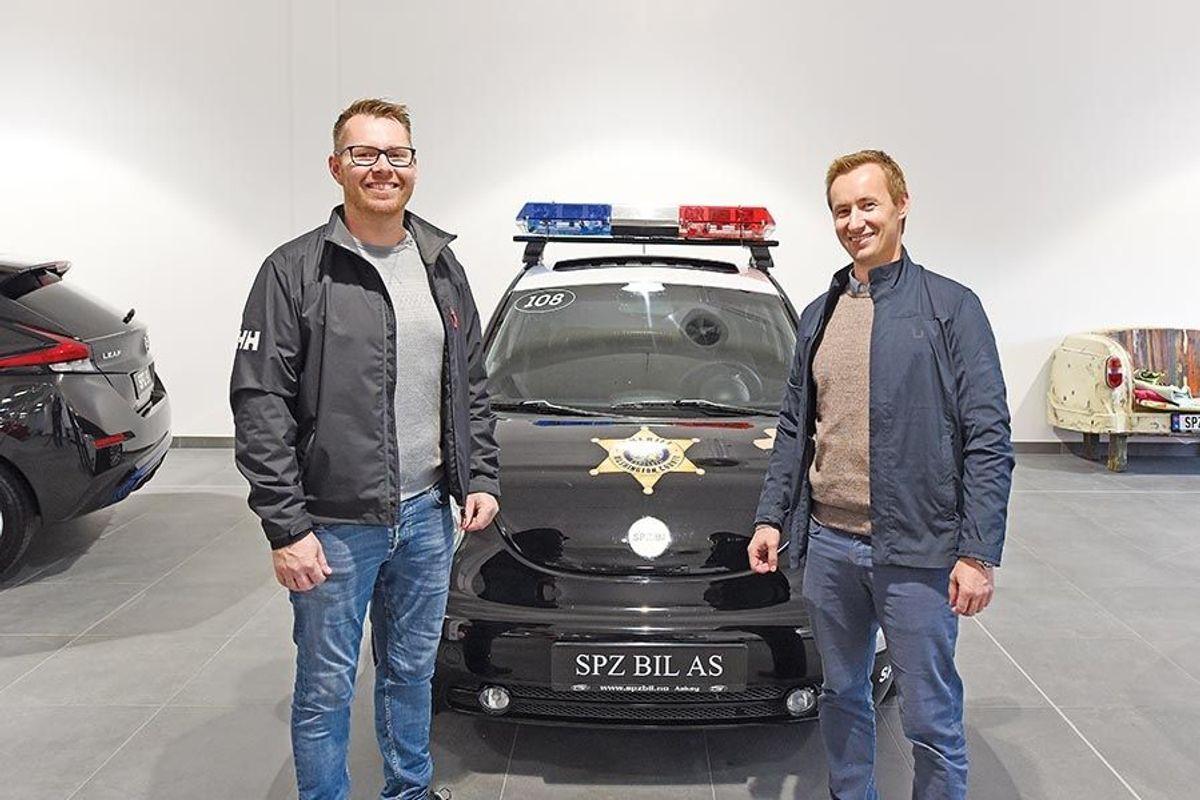 Styreleder Ola Espeseth i SPZ Bil AS og prosjektleder Thormod Jønsson i Lars Jønsson AS.