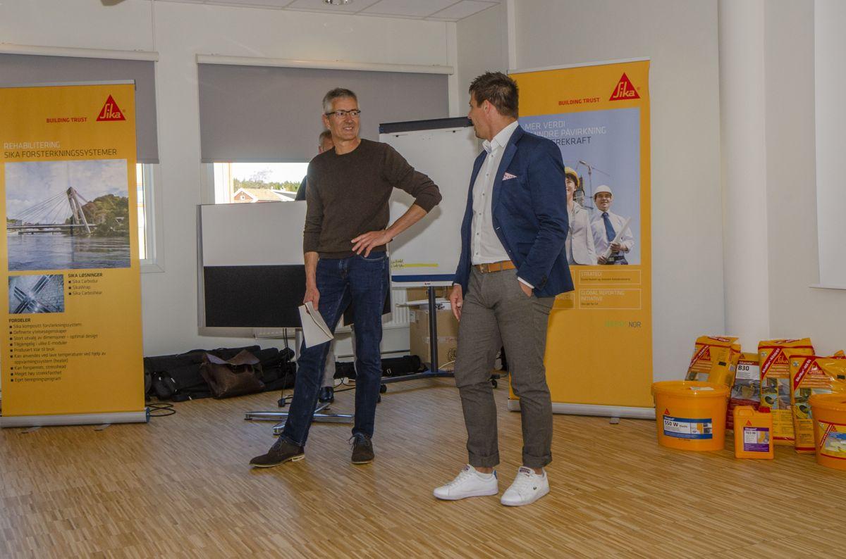 Administrerende direktør Timo Ascherl (til venstre) og teknisk fagansvarlig Martin Dietler i Beeck.