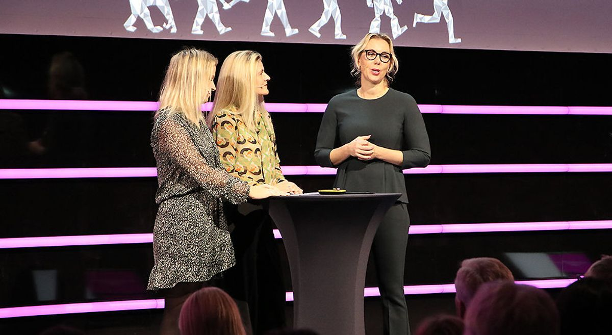 Cecilia Flatum (partner, Deloitte), Julie Lødrup (førstesekretær, LO) og Inger Lise Blyverket (direktør Politikk og forhandlinger, Virke).
