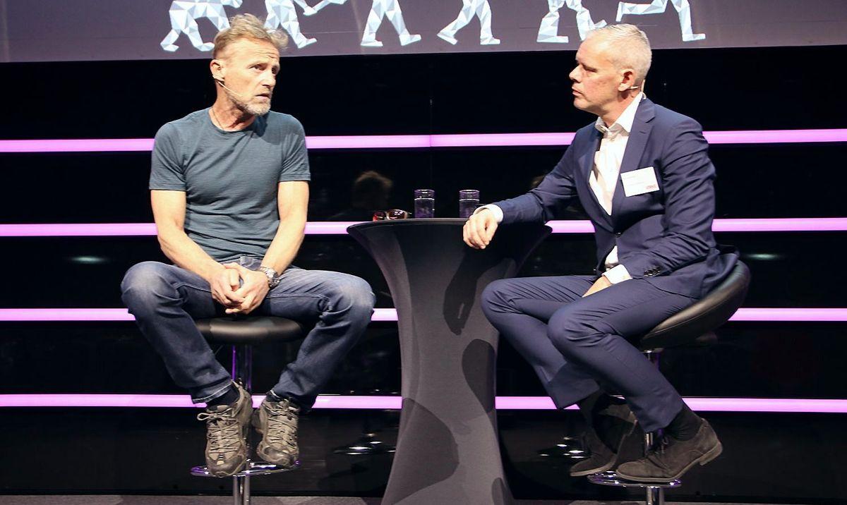 Jo Nesbø i samtale med Per Valebrokk, partner, Storm Communication.