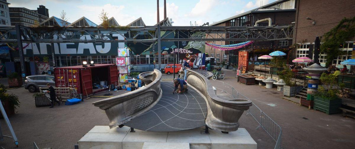 <p>Slik blir den 3D-printede stålbrua i Amsterdam. Foto: mx3d.com</p>