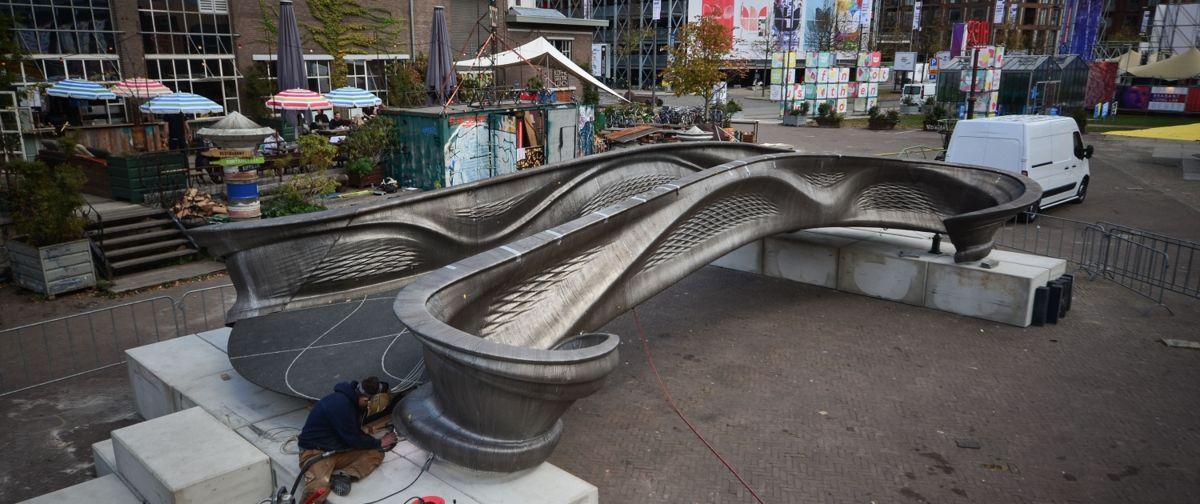 Slik blir den 3D-printede stålbrua i Amsterdam. Foto: mx3d.com
