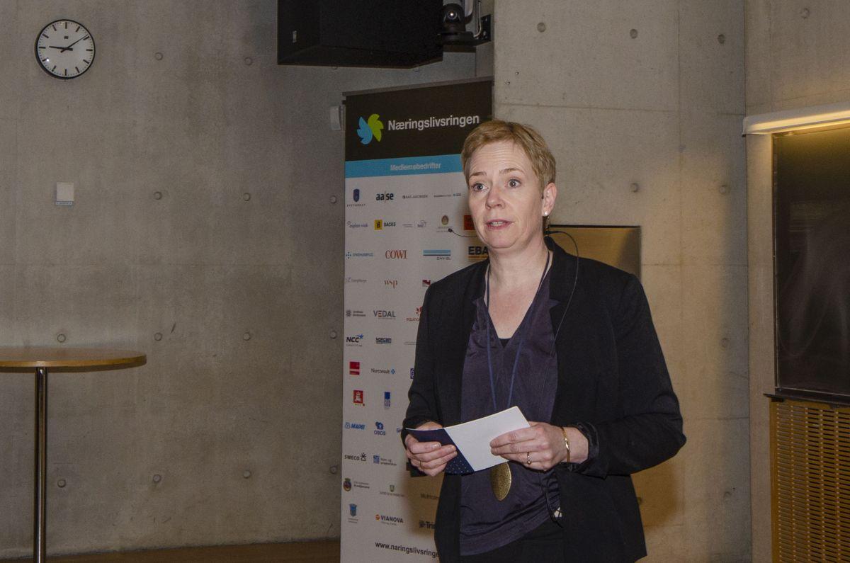 Styreleder i Næringslivsringen og forskningssjef i SINTEF Byggforsk avdeling Infrastruktur, Berit Laanke.