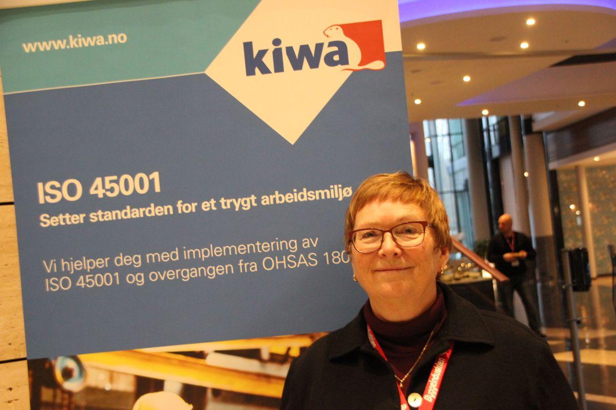 Kiwa på HMS-konferansen 2018. Foto: Svanhild Blakstad