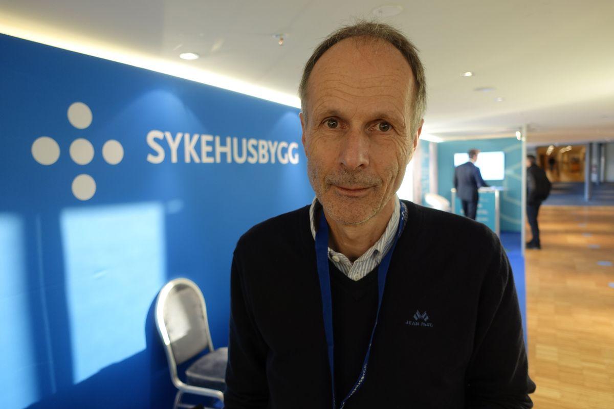 Arild Vassenden er Sykehusbyggs mann på Nytt sikkerhetsbygg ved St. Olavs hospital.