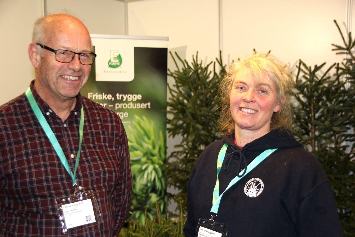 Norske naturplanter og Reierstøl planteskole var en av mange grøntleverandører på Park- og anleggsmessen. Foto: Svanhild Blakstad