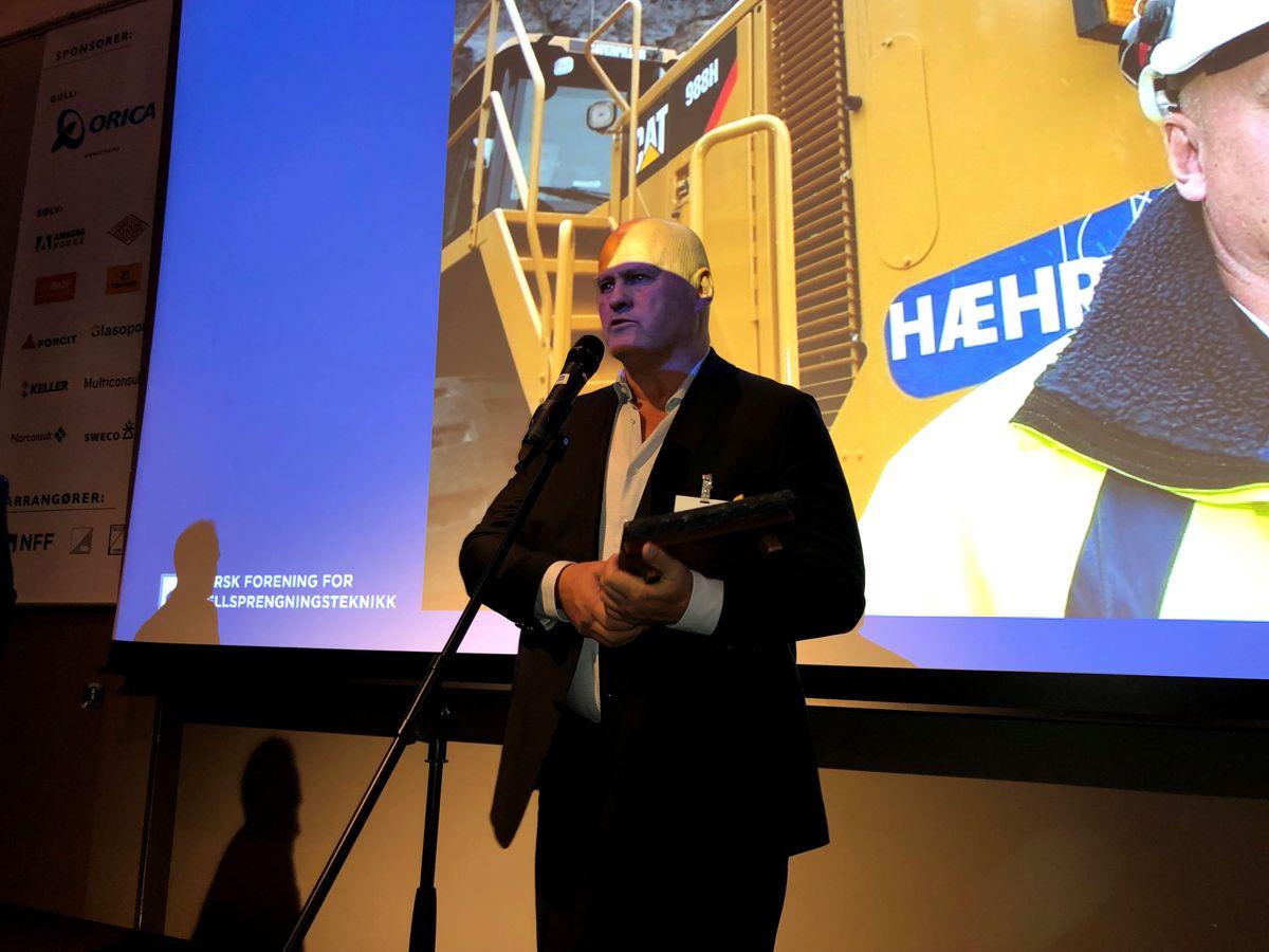 <p></p><p>Albert Hæhre ble hedret under Fjellsprengningsdagen i Oslo.</p>