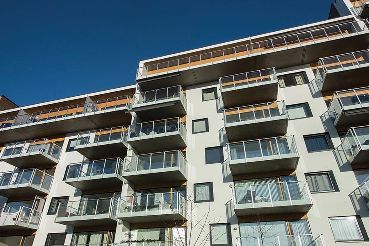 Solheimstunet, trinn 1 og 2, på Lørenskog. Foto i november 2018. Byggherre: USBL, Arkitekt: Arkitema, Totalentreprenør: Betonmast Boligbygg