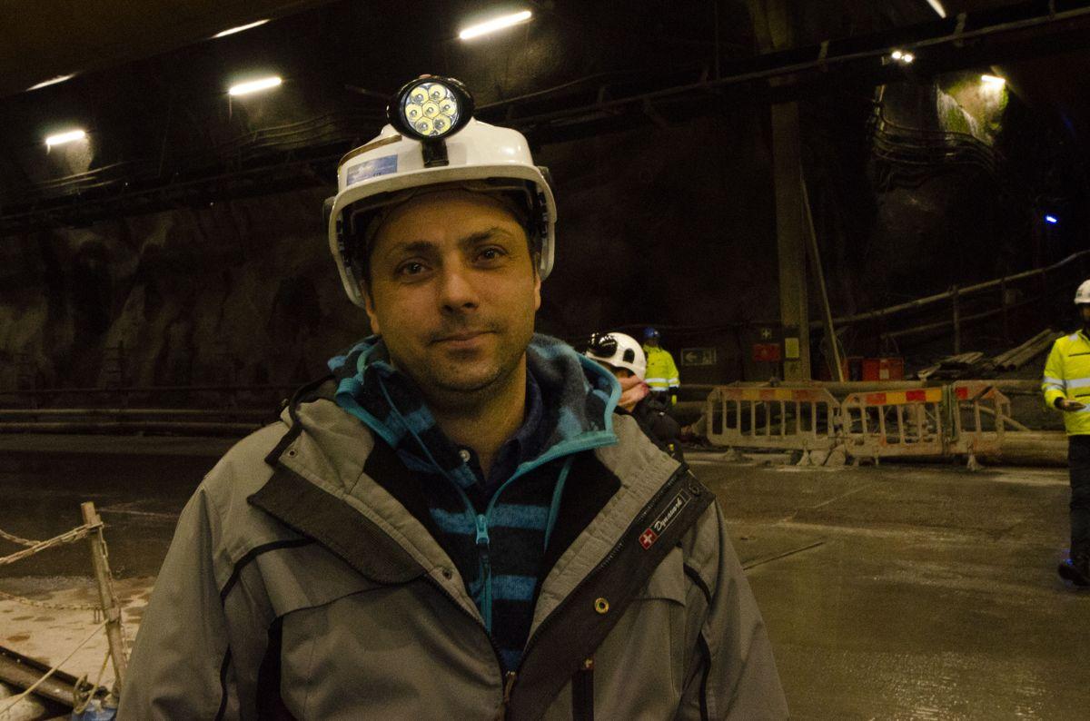 Sjefelektriker Filipe Pinheiro i Ghella.
