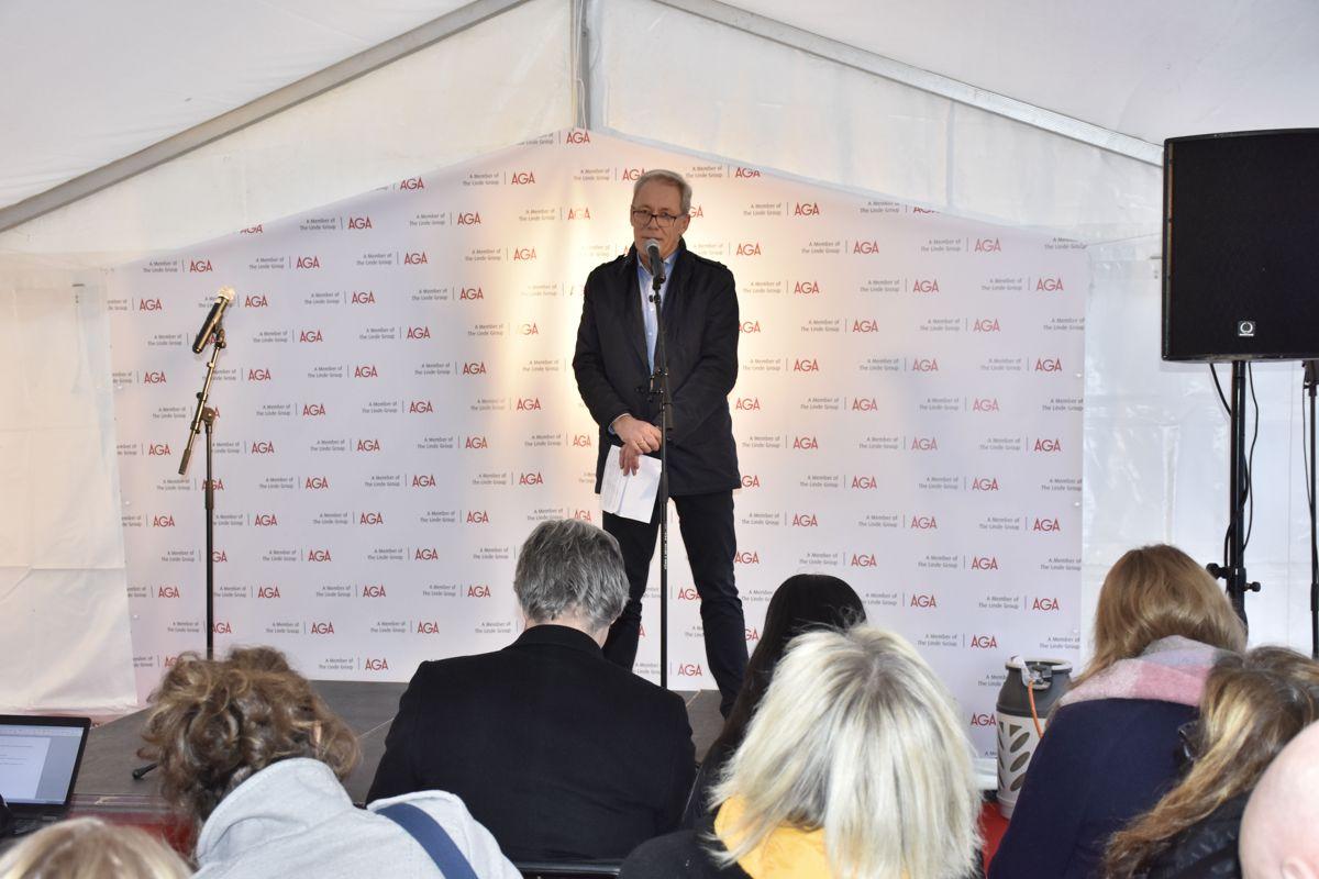 Tor Husebø, leder for ren energi i nordiske land i AGA.