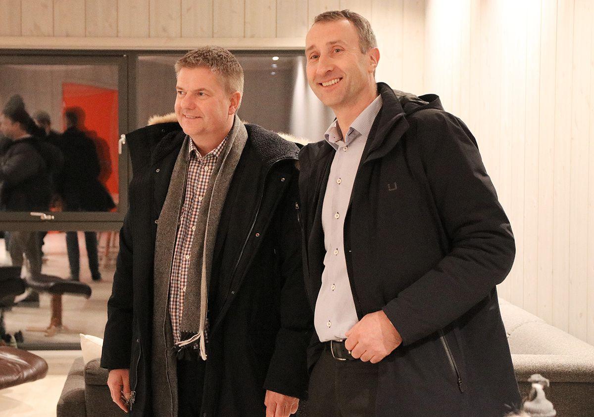 Konsernsjef Anders Danielsson i Skanska AB og konsernsjef Ståle Rød i Skanska Norge.