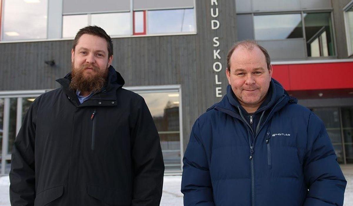 Prosjektleder Henning Brekke i HENT og prosjektleder Arild Magnus Rønnestad i Ringerike kommune er fornøyd med samarbeidet entreprenør og byggherre har hatt i prosjektet.