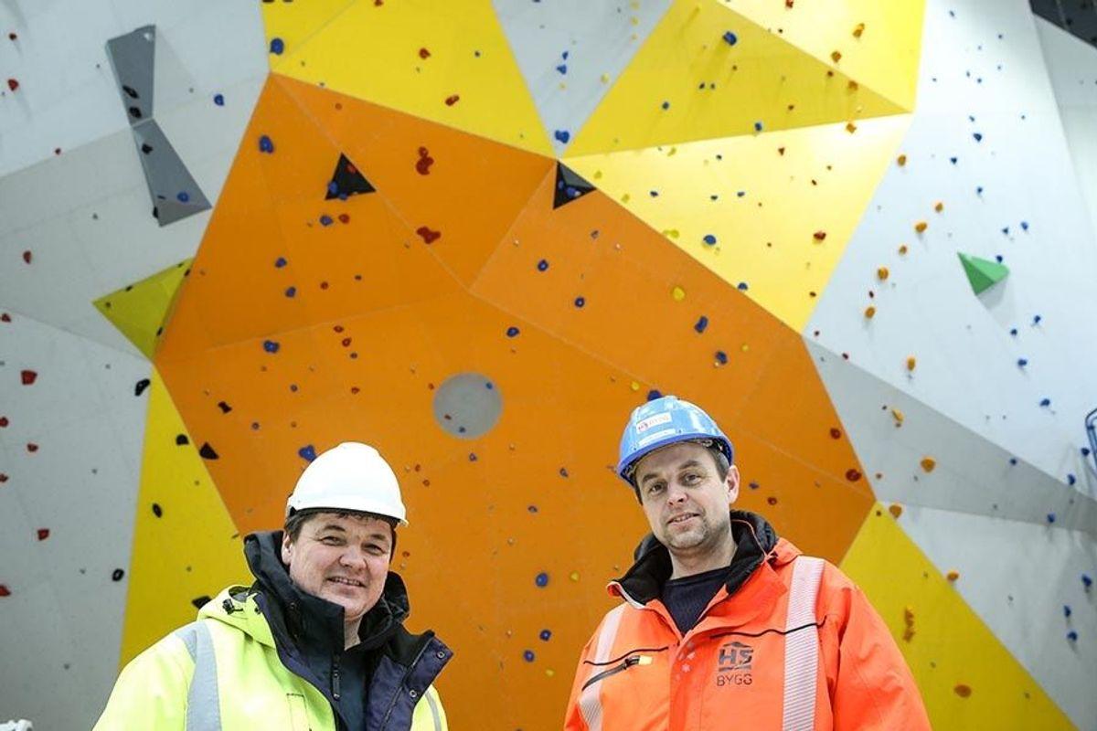 Prosjektlederne Frank Flusund i Ørsta kommune (t.v) og Rune Øiestad i HS Bygg.
