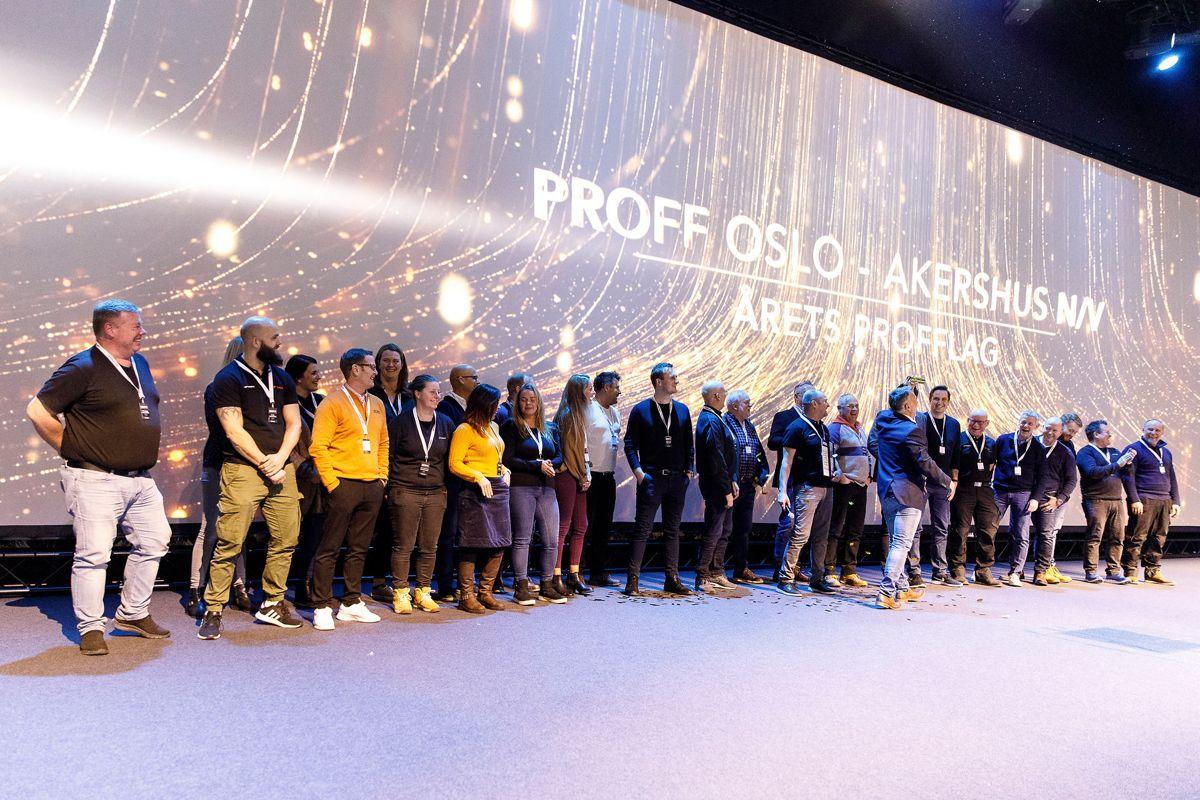 Proff Øst kan skilte med en solid vekst og gleden over seier var stor i hele laget da de ble kåret til Årets Profflag.
