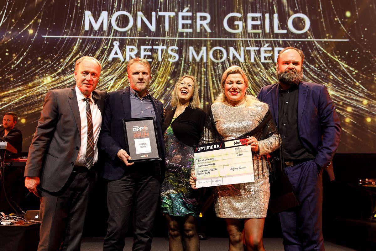 Montér Geilo vant Årets Montér for andre gang. Første gang var i 2016, og de var også nominert i 2014. Daglig leder, Trude Kaupang, hyller sine ansatte gleder seg til å feire sammen med dem.