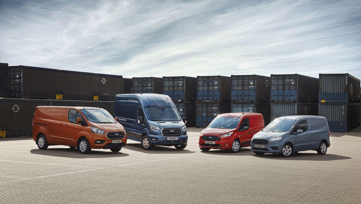 Ford satte ny salgsrekord for nyttekjøretøy i Norge i 2018. Foto: Ford