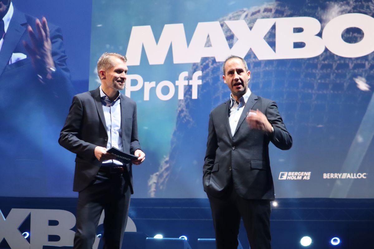 THOMAS OG HARALD: Maxbo-sjef Thomas Støkken og Harald Rønneberg åpnet Arena 2019. Foto: Svanhild Blakstad