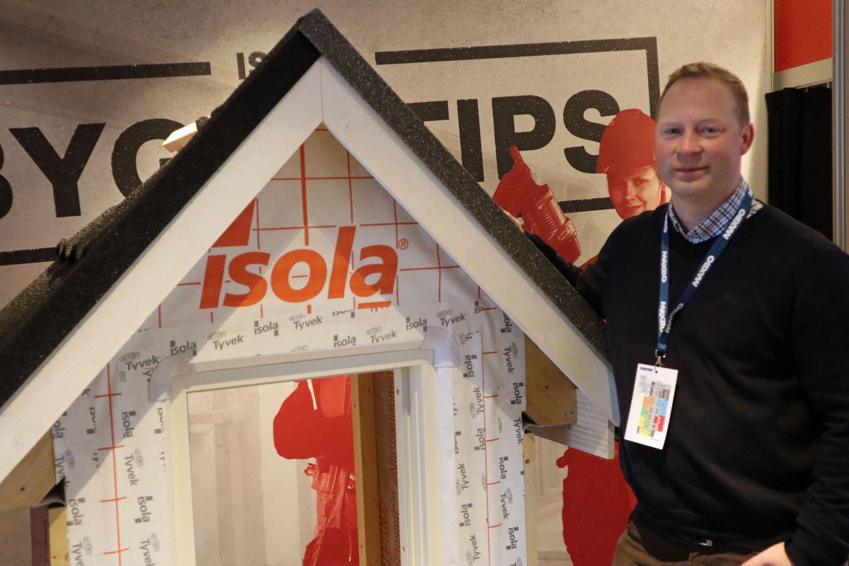 Isola var en av femti leverandører som holdt fagseminar for proffkundene på Arena 2019. Foto: Svanhild Blakstad
