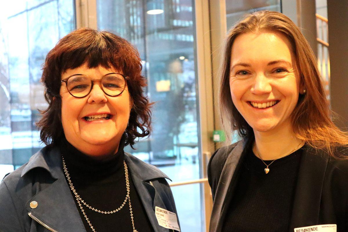 HR-sjef Marianne Boeck og kommunikasjonsrådgiver Line Midtgaard i Backegruppen deltok på samlingen. Foto: Svanhild Blakstad