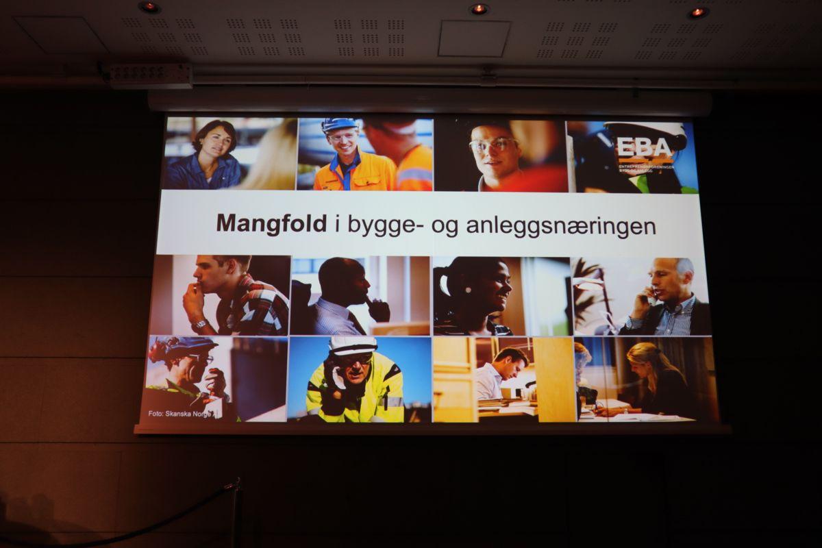 Fra BNLs samling for økt kvinnerekruttering i byggenæringen. Foto: Svanhild Blakstad
